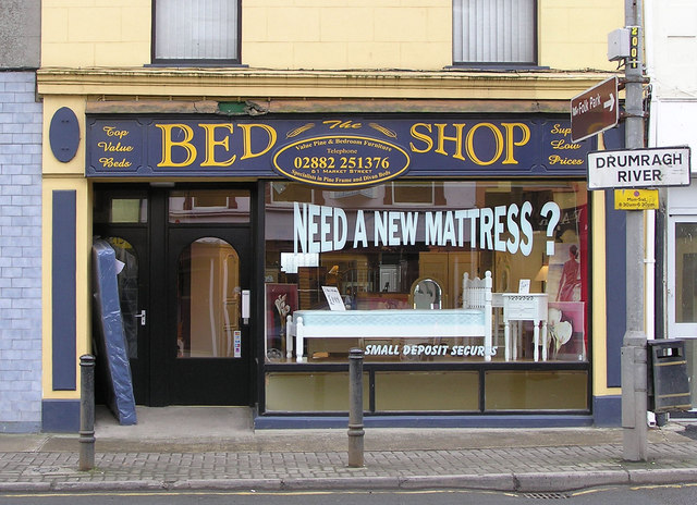 File:Bed Shop, Omagh - geograph.org.uk - 129722.jpg