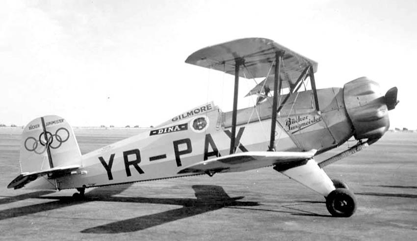 Bucker Bu-133B 1/72e Base Heller Bucker_Jungmeister_YR-PAX_(4476070781)