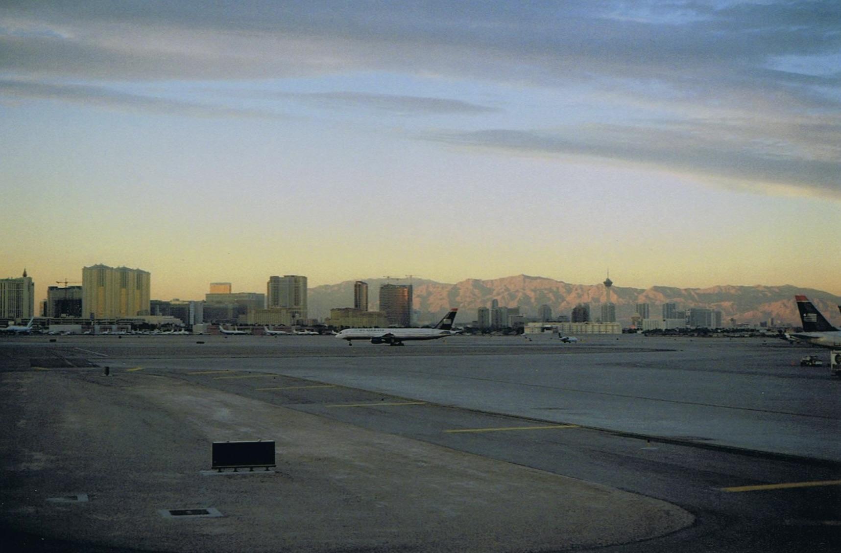 McCarran International Airport's main taxiway.