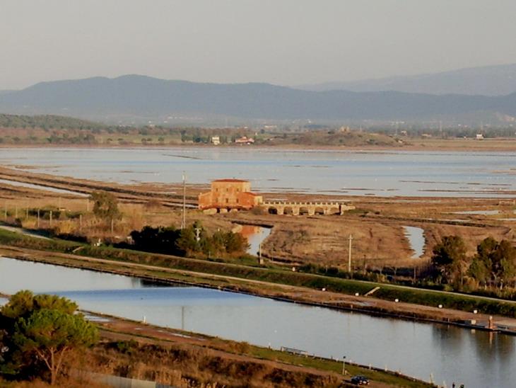 Casa Rossa Ximenes e Diaccia Botrona dal Castello Castiglione della Pescaia