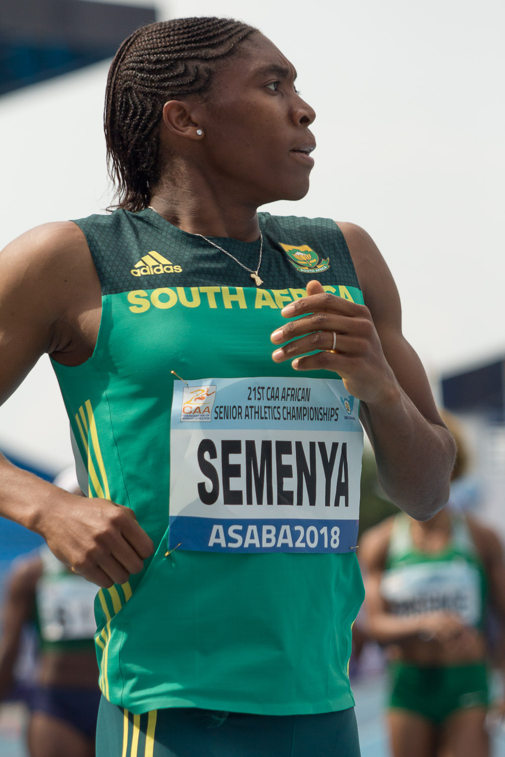 Caster Semenya of South Africa at the 2018 African Athletics Championships