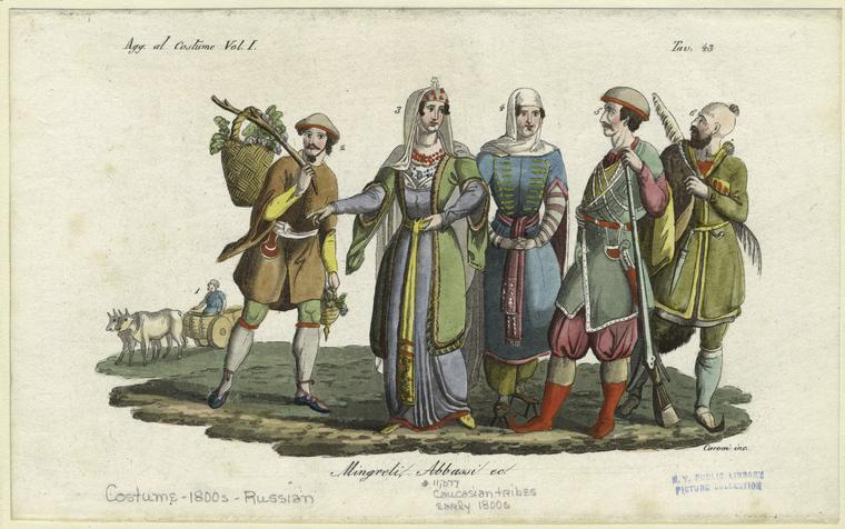 File:Caucasian tribes, early 1800s.jpg