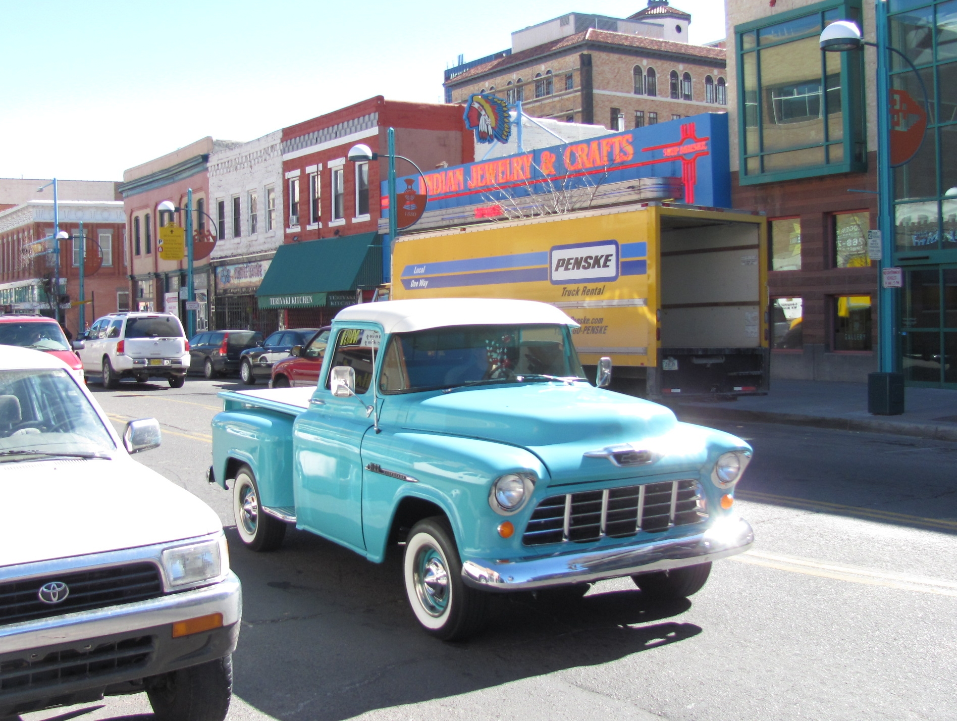 file chevy pickup central ave albuquerque wikimedia commons. Black Bedroom Furniture Sets. Home Design Ideas
