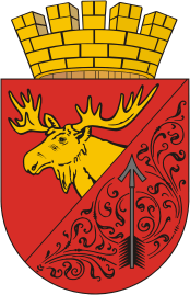 File:Coat of Arms of Gusev (Kaliningrad oblast).png (Quelle: Wikimedia)