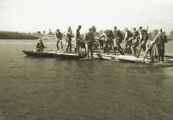 Soviet soldiers crossing the Dnieper on improvised rafts Crossing the Dnieper.png