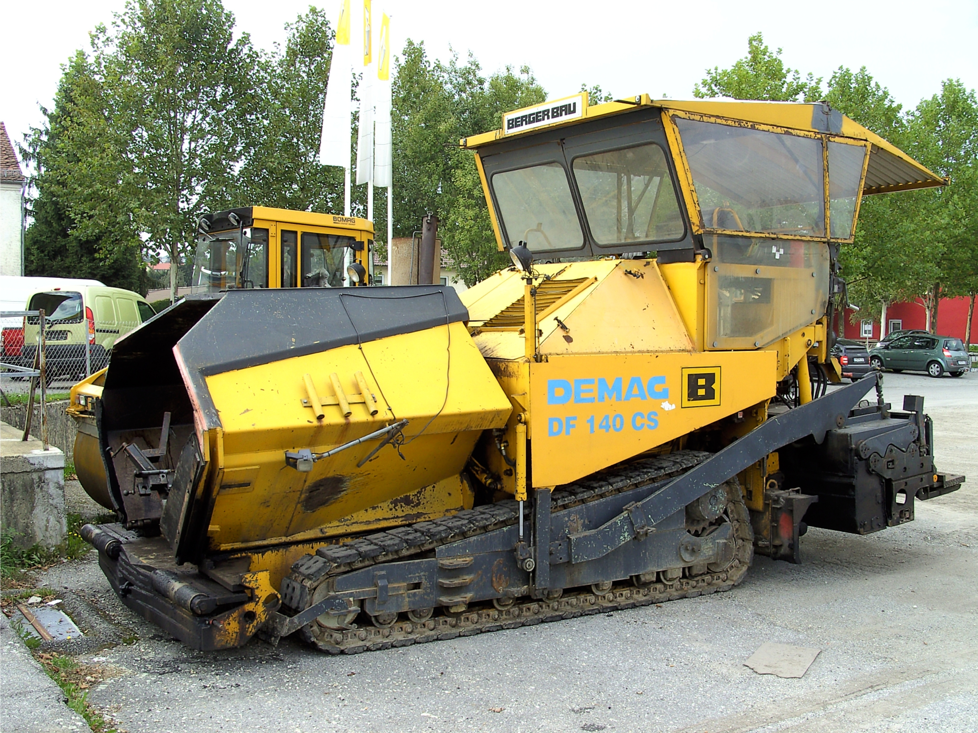Paver, Heavy Equipment Used in Construction