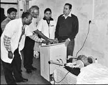Clinical trial of hyperthermia and radiation at the Mahavir Cancer Sansthan, Patna, India Diathermy unit for hyperthermia treatment.jpg