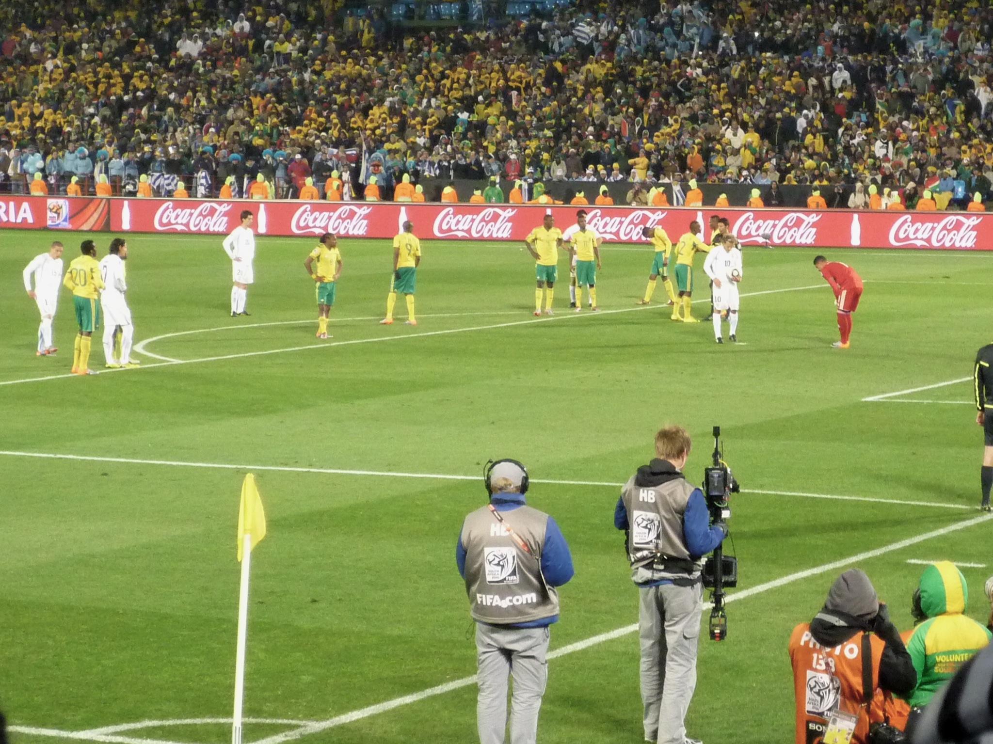 Sydafrika vs Uruguay, VM 2010; foto: Patrick de Laive