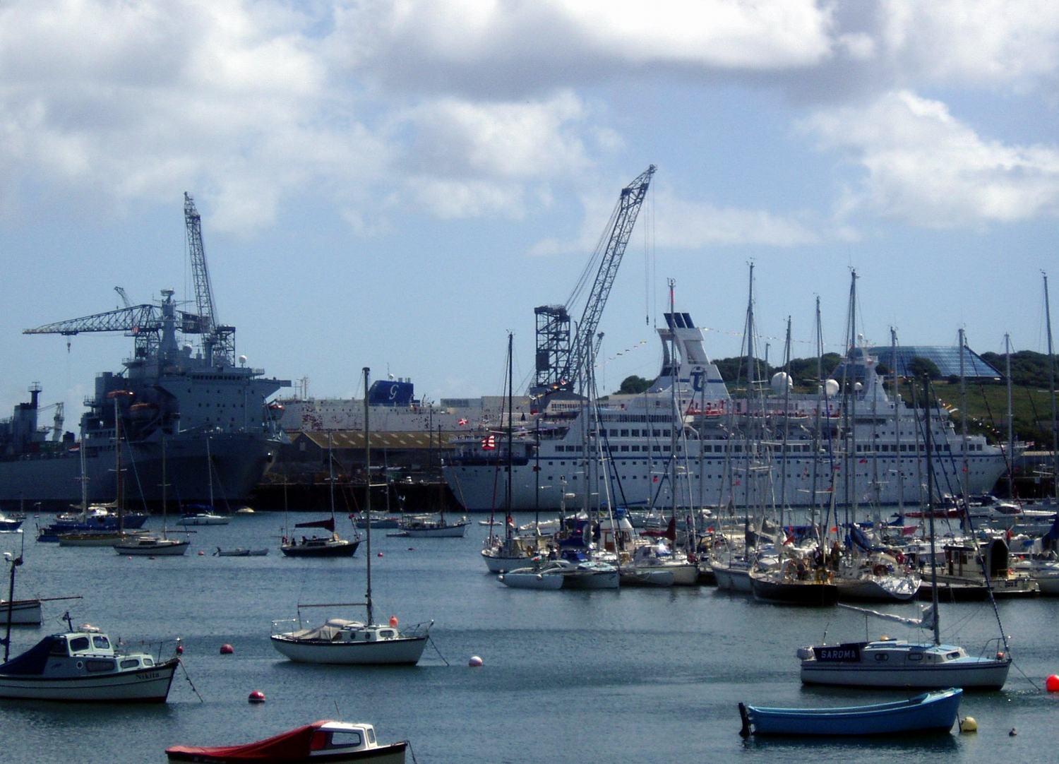 Falmouth Docks is the major port of Cornwall, and one of the largest natural harbours in the world