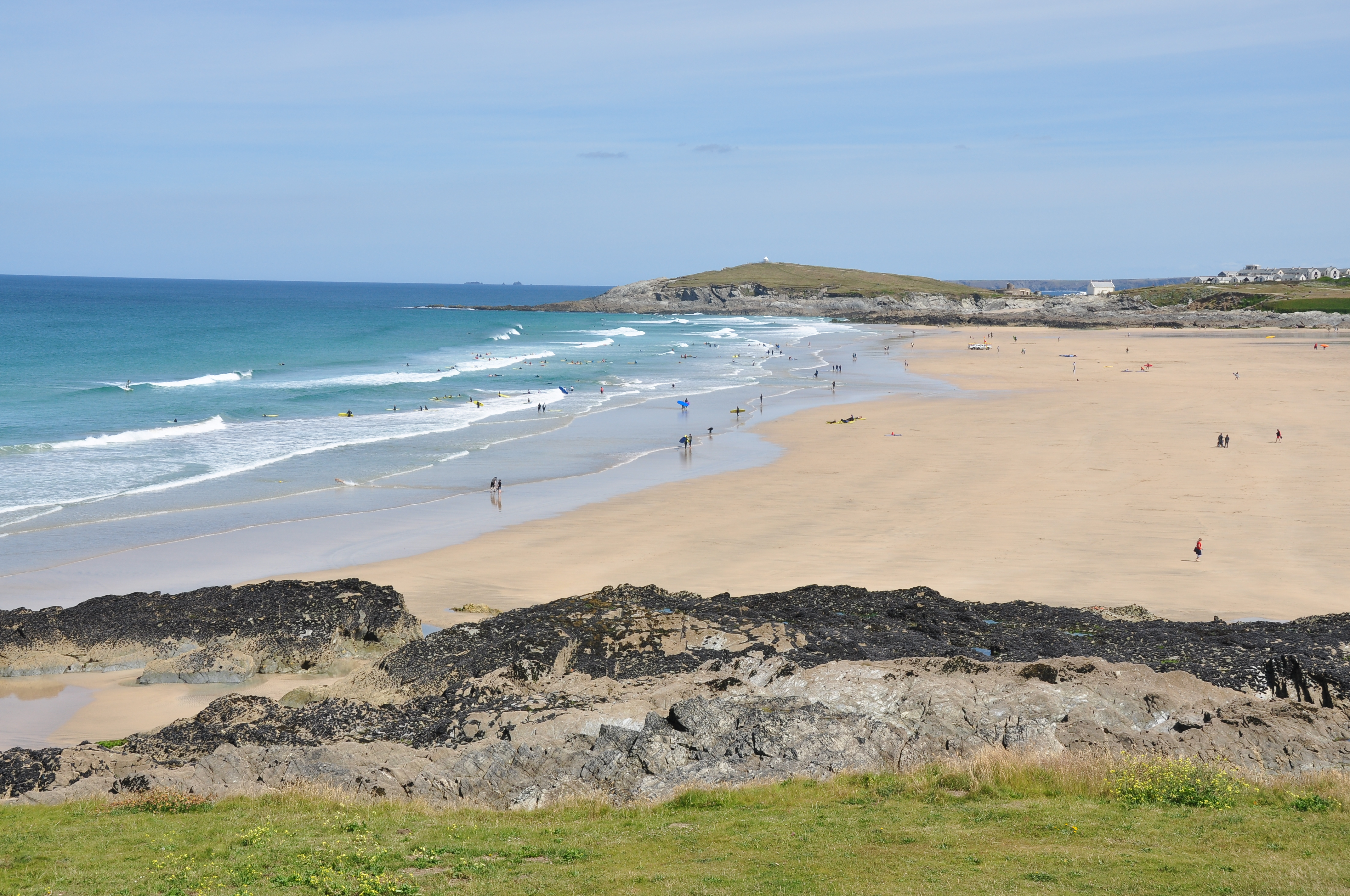 Fistral beach on a morning