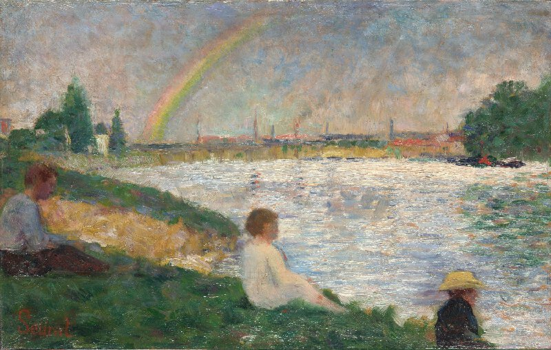 Georges Seurat - The Rainbow Study for Bathers at Asnières