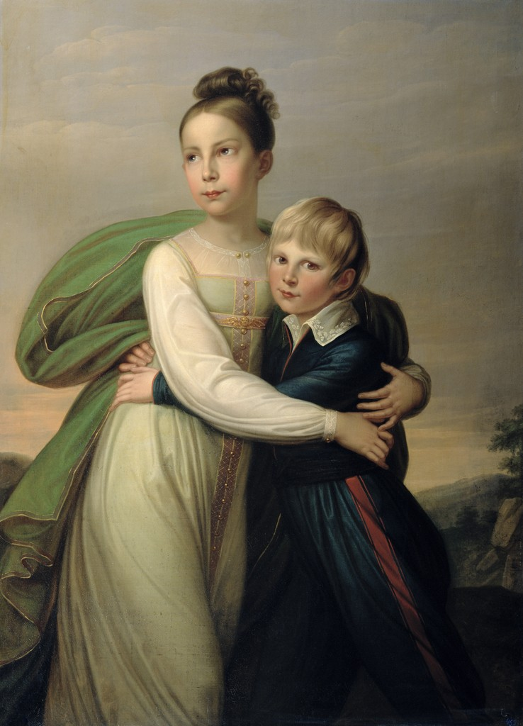 Gerhard von Kügelgen - Prinzessin Luise und ihr Bruder Prinz Albrecht von Preußen.jpg
