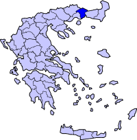 Location of İskeçe Prefecture in Greece