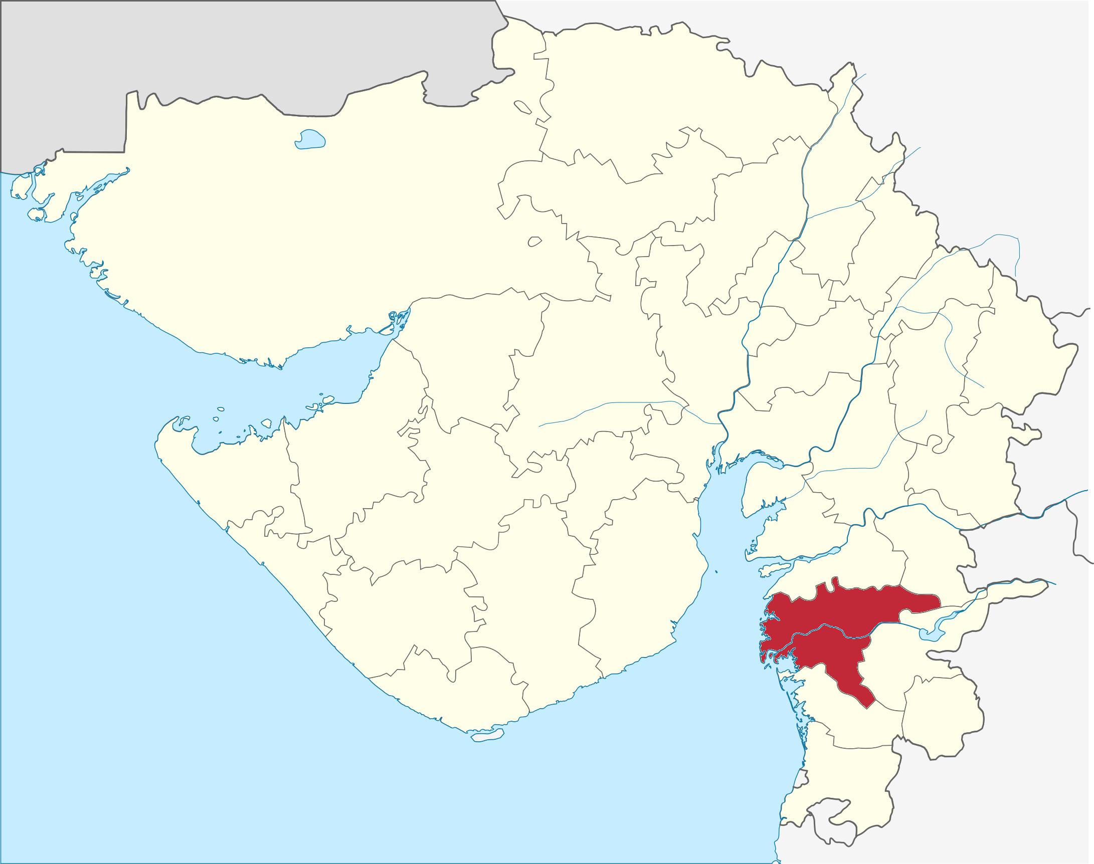 surat in india map Surat District Wikipedia surat in india map