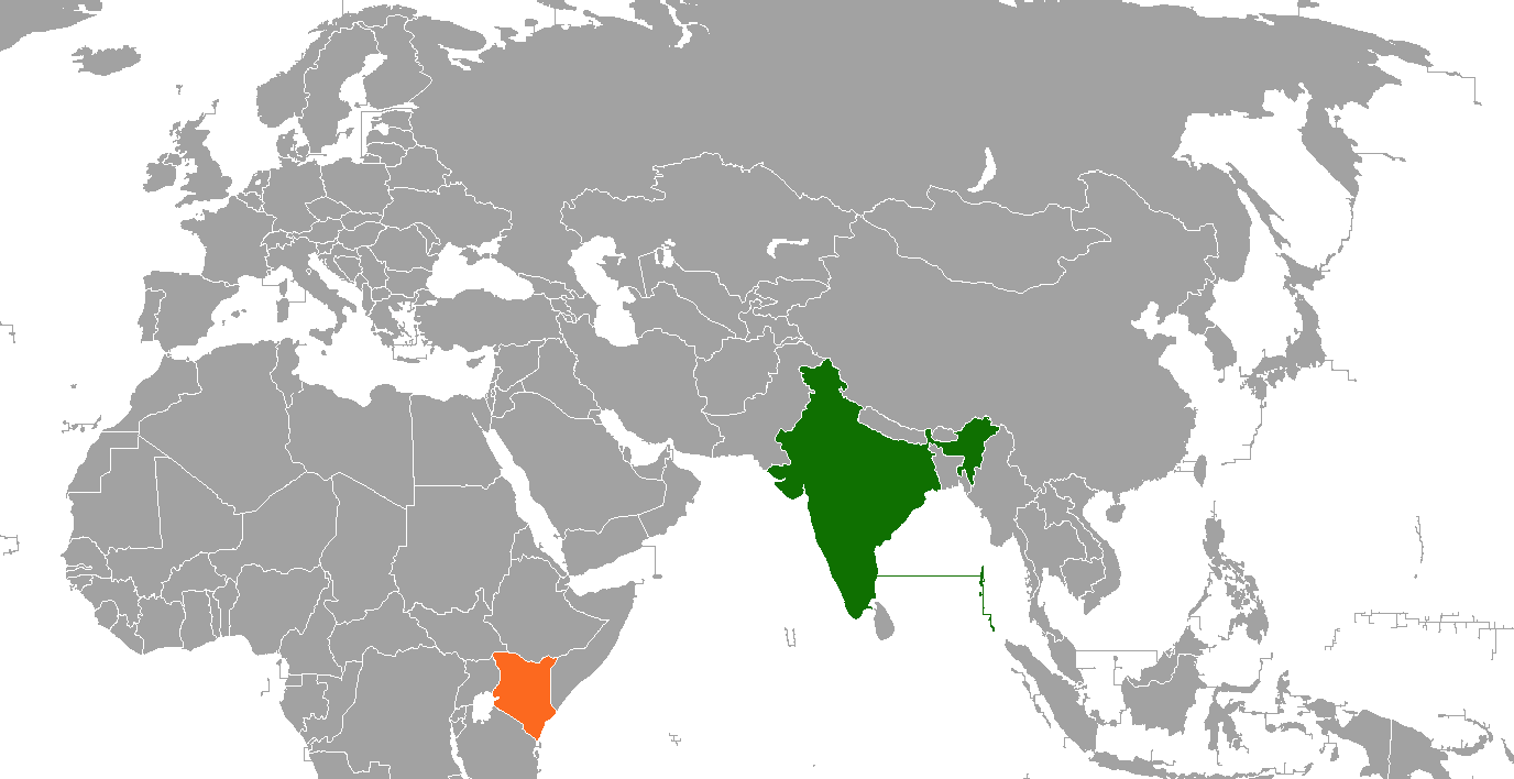 India–Kenya relations - Wikipedia on liberia world map, tanzania world map, turkey world map, jamaica world map, rwanda world map, malawi world map, madagascar world map, ethiopia world map, africa world map, indonesia world map, uae world map, portugal world map, lesotho world map, guatemala world map, nigeria world map, iran world map, uganda world map, algeria world map, kuwait world map, mozambique world map,
