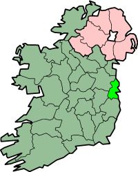 centerMap highlighting County Dublin