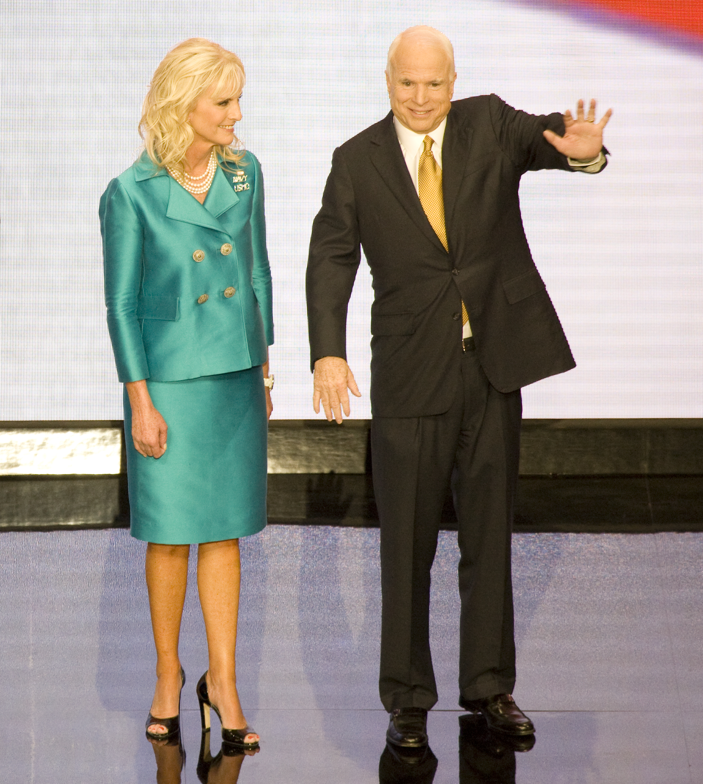 Cindy Hensley Mccain: File:John And Cindy McCain On Stage, St. Paul, Minnesota