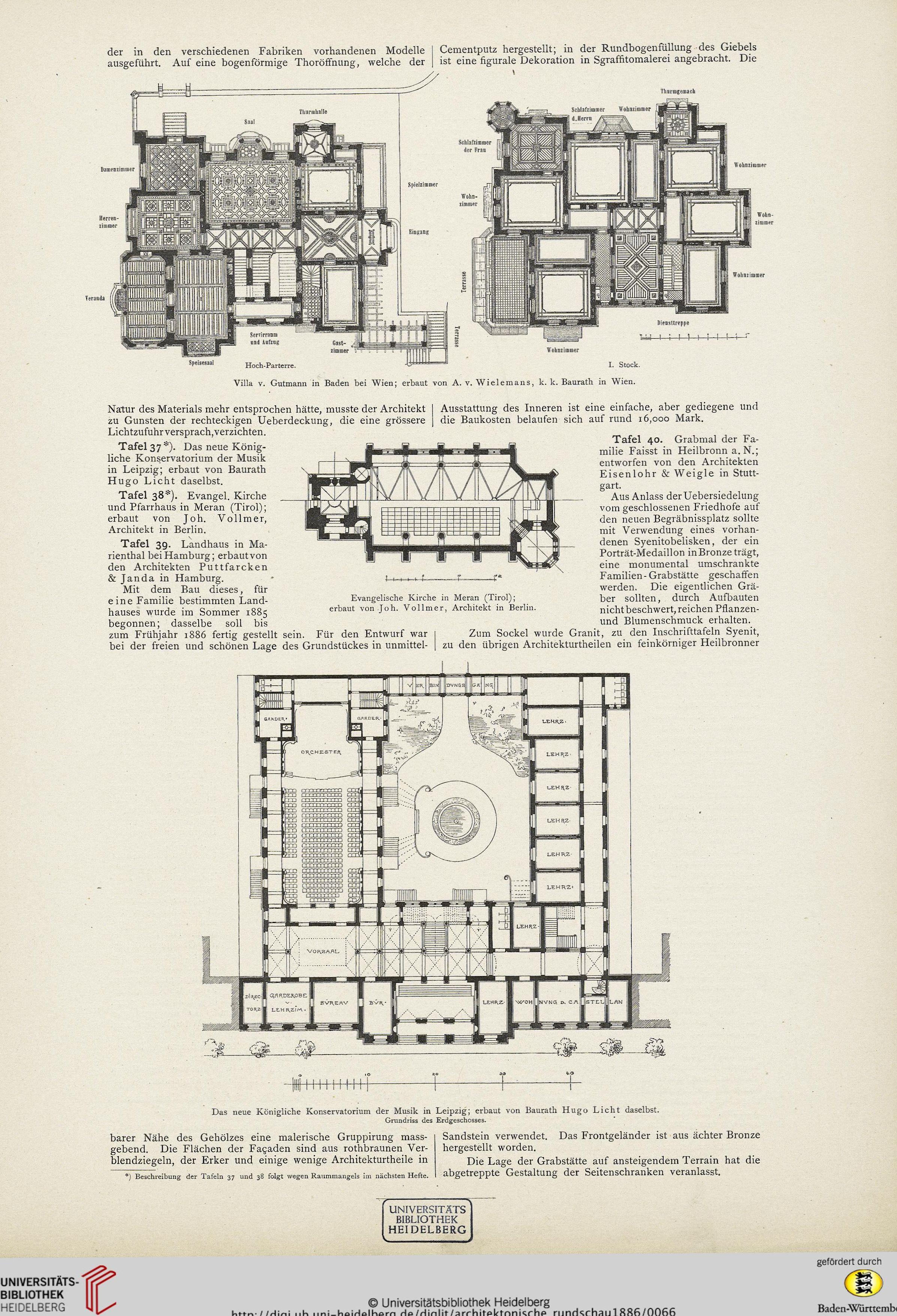 File:Königliches Konservatorium Der Musik Leipzig (hugo Licht)    Architektonische Rundschau 2 (
