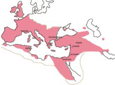 Christendom by A.D. 600 after its spread to Africa and Europe from the Middle East.