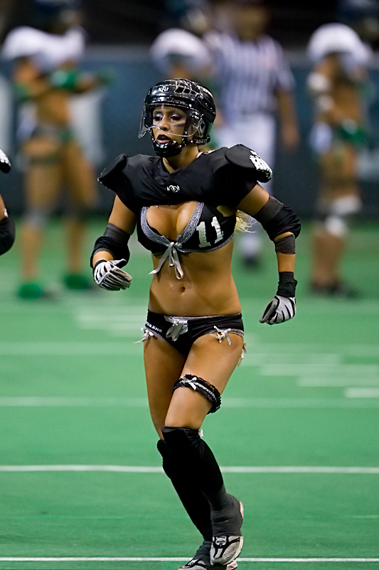 Football + beautiful half naked women = a good time