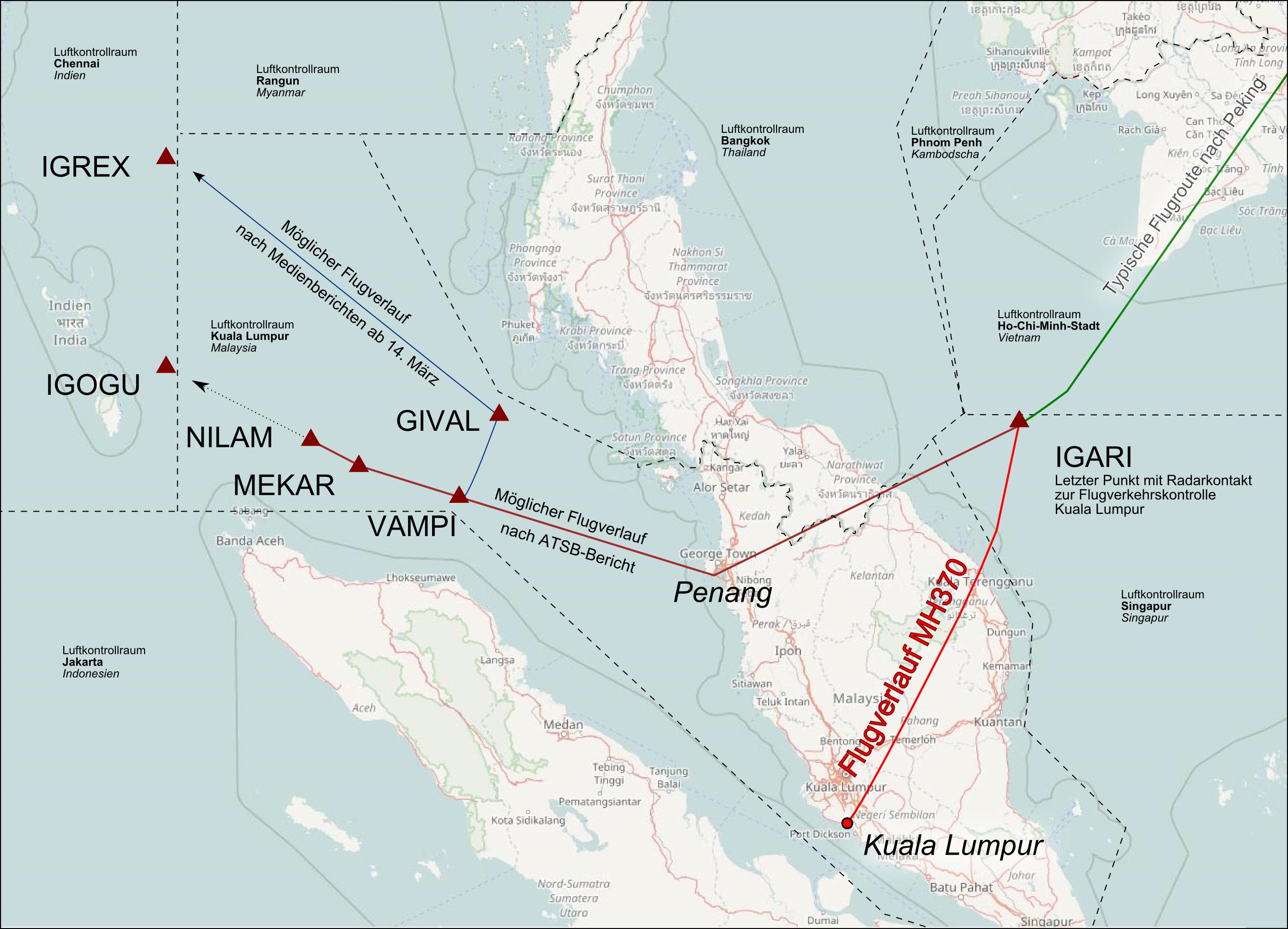 Malaysia-Airlines-Flug 370 – Wikipedia