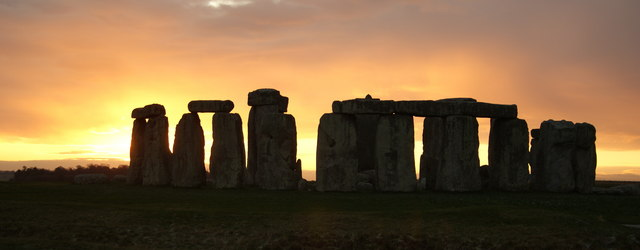 Sunrise at Stonehedge on the Winter Solstice