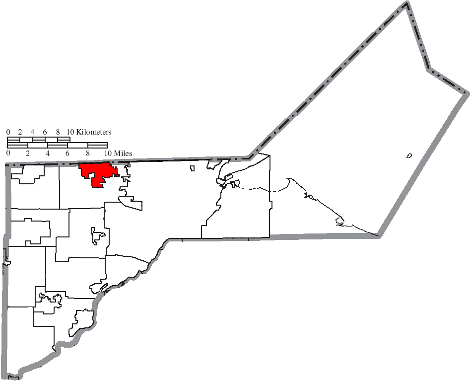 File Map Of Lucas County Ohio Highlighting Sylvania City Png