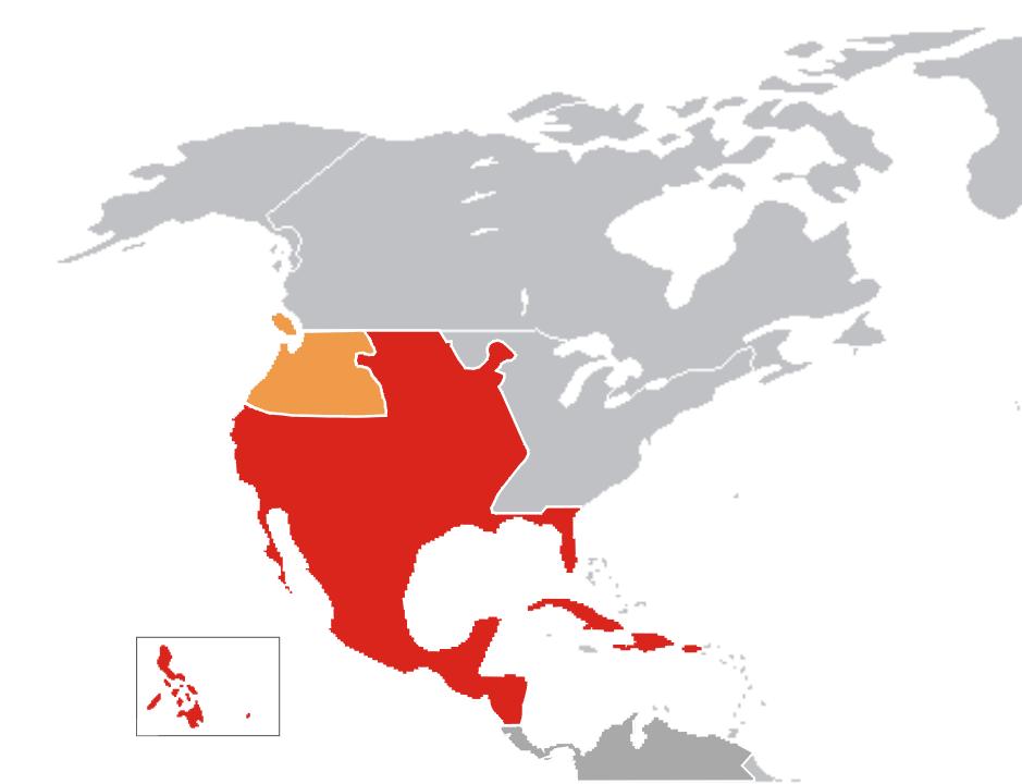 Mapa De Nueva España Siglo Xvi.Archivo Mapa Virreinato Nueva Espana Png Wikipedia La