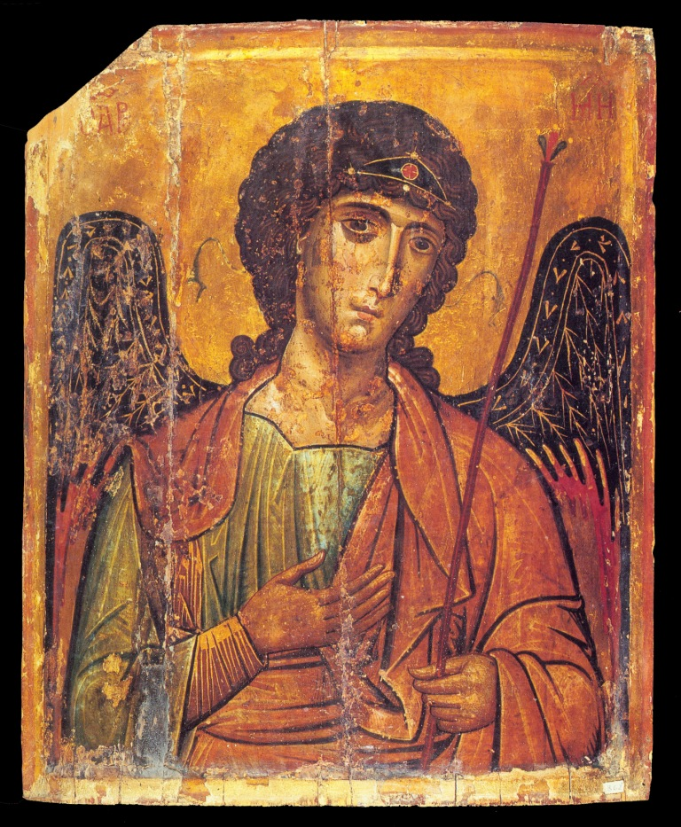 A 13th-century Byzantine icon of St Michael fr...