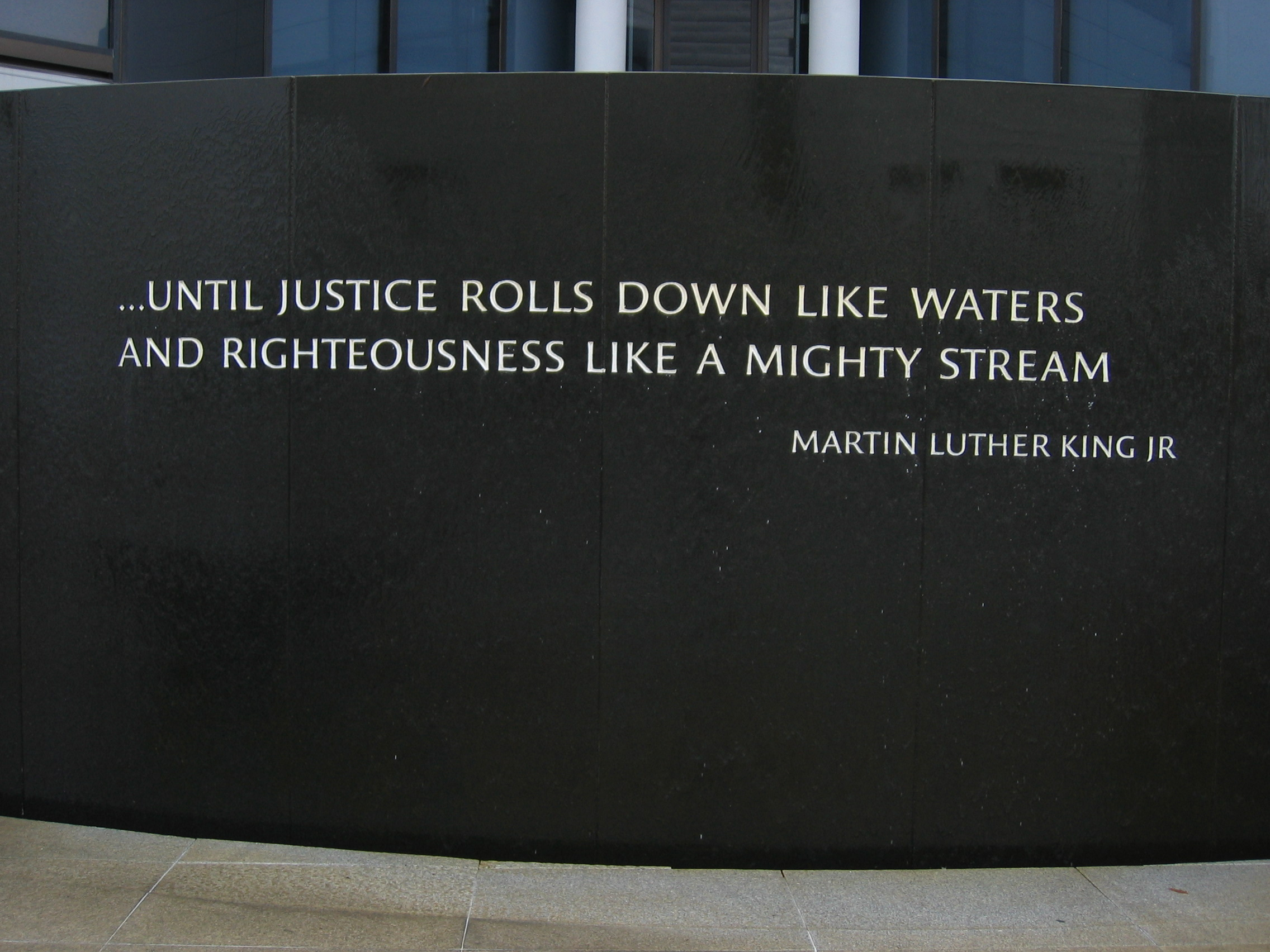 Martin Luther King Jr quote on wall
