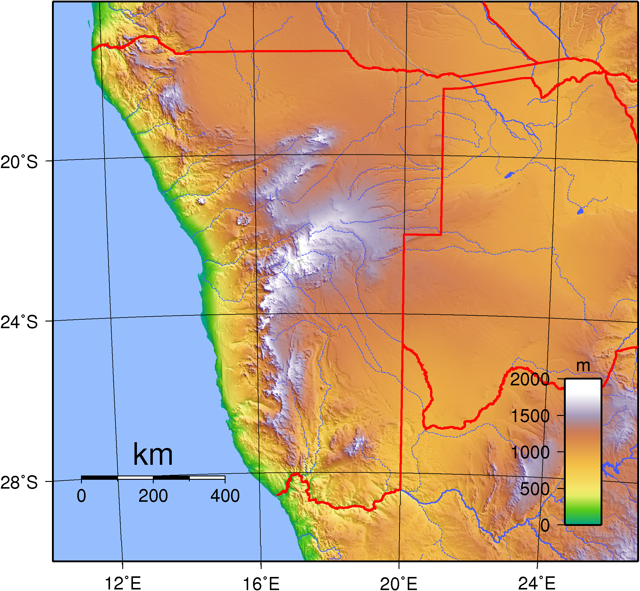 Namib Desert On Africa Map.Namib Desert Region Namibia From Wet To Dry Critical