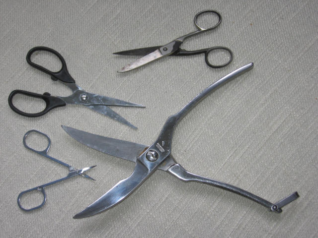 Four types of scissors