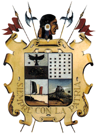 English: Nuevo Laredo Coat of Arms clearer and...