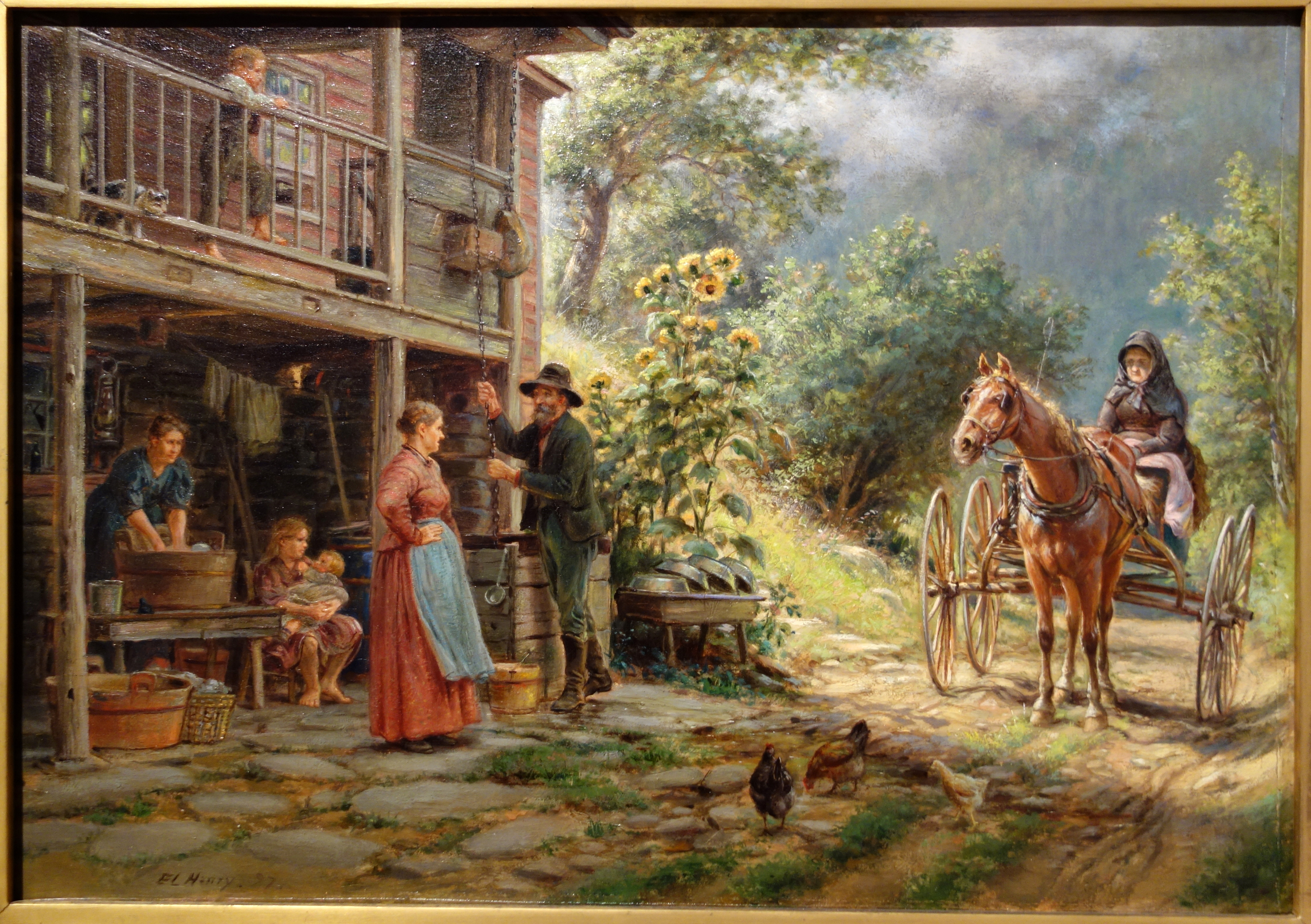 Off The Main Road By Edward Lamson Henry 1897 Oil On Canvas New Britain Museum Of American Art Dsc09404 Jpg 4465 3147 Tablolar