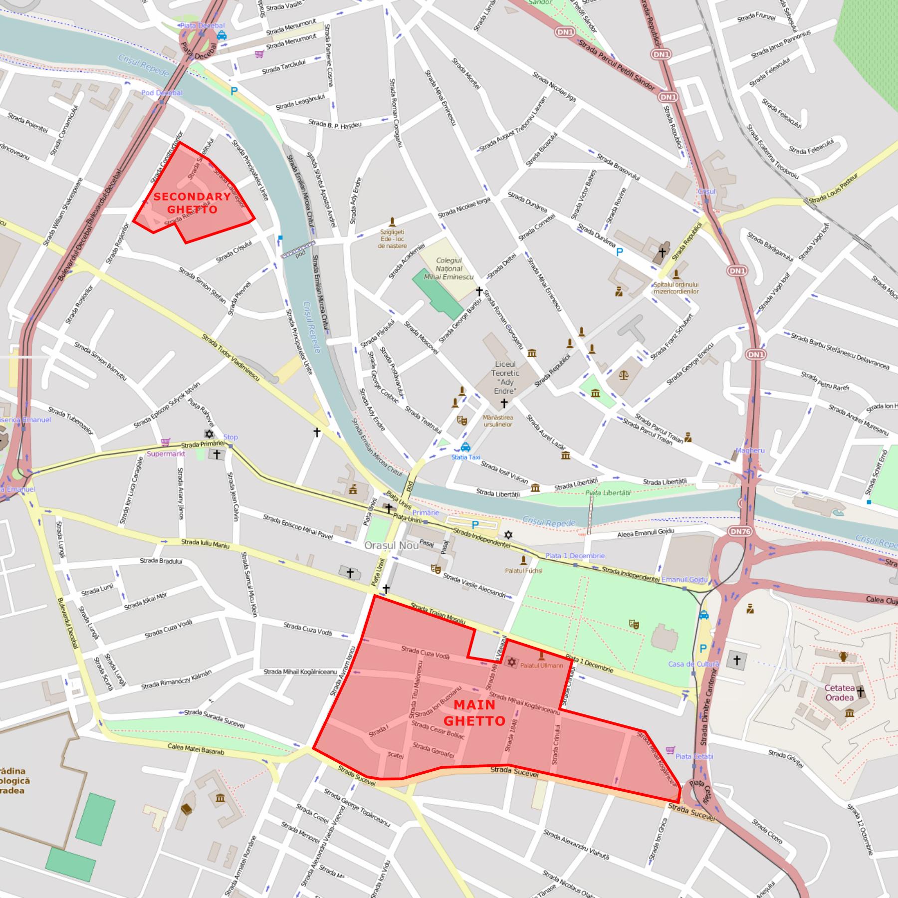 FileOradea Ghettopng Wikimedia Commons - Oradea map