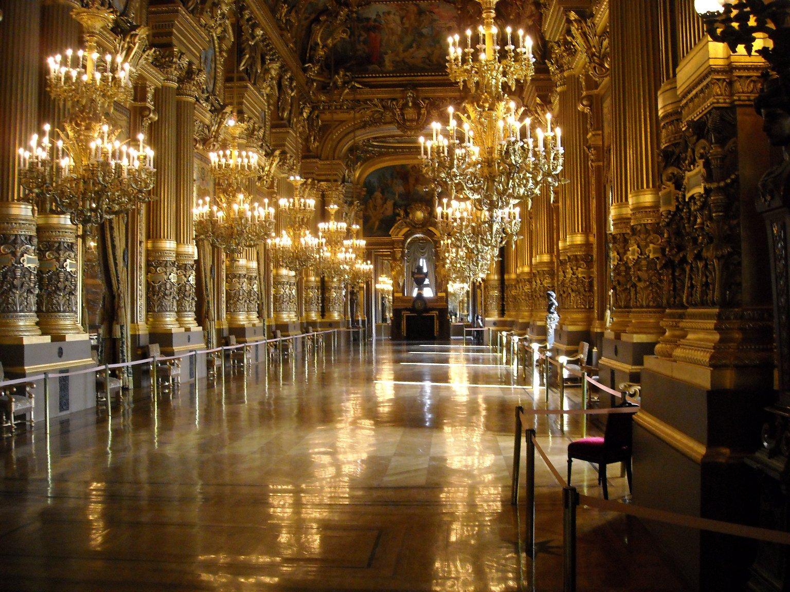 The Grand Foyer Palais Garnier : File paris opera grand foyer of palais garnier g
