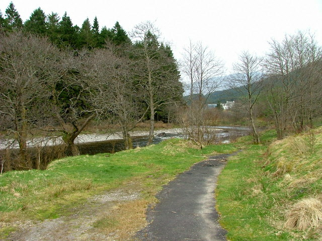 Part of the old road through Glen Orchy - geograph.org.uk - 2377993