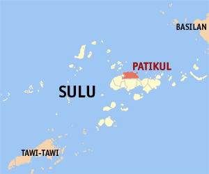 Map of Sulu showing the location of Patikul