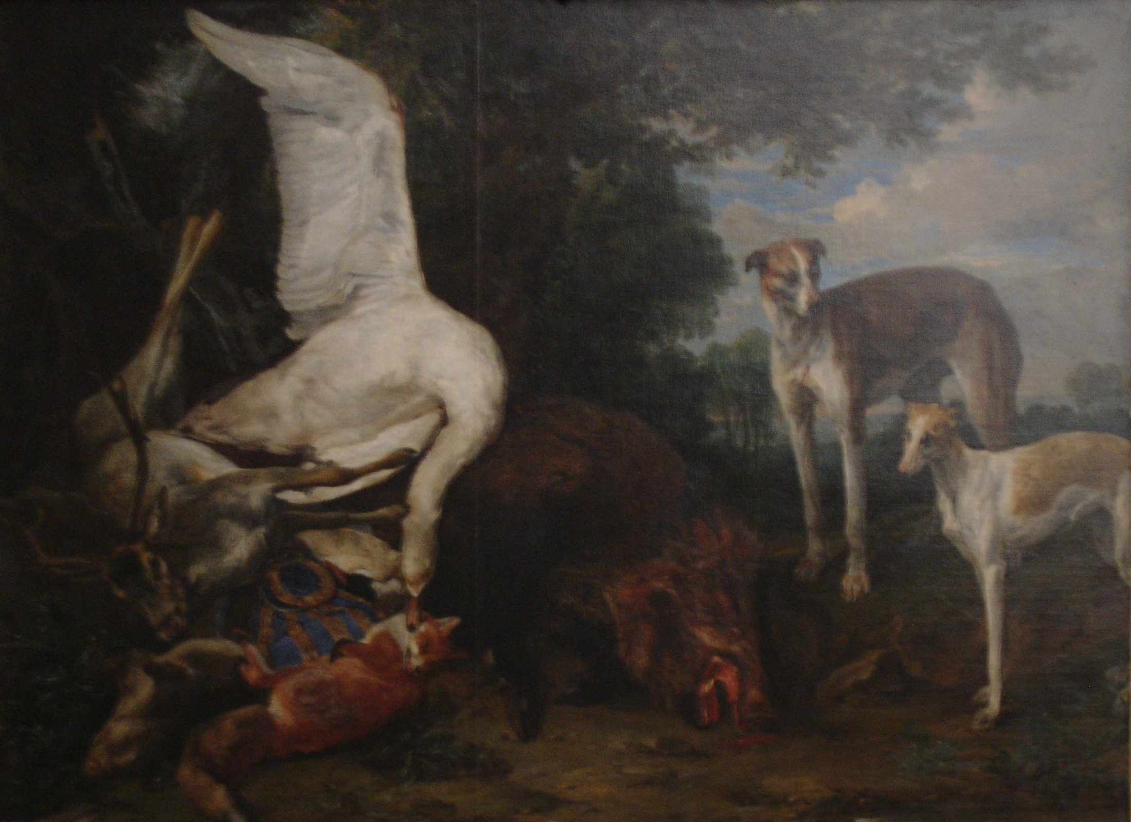 File:Pieter Boel, Dead Game Guarded by Two Dogs JPG - Wikimedia Commons