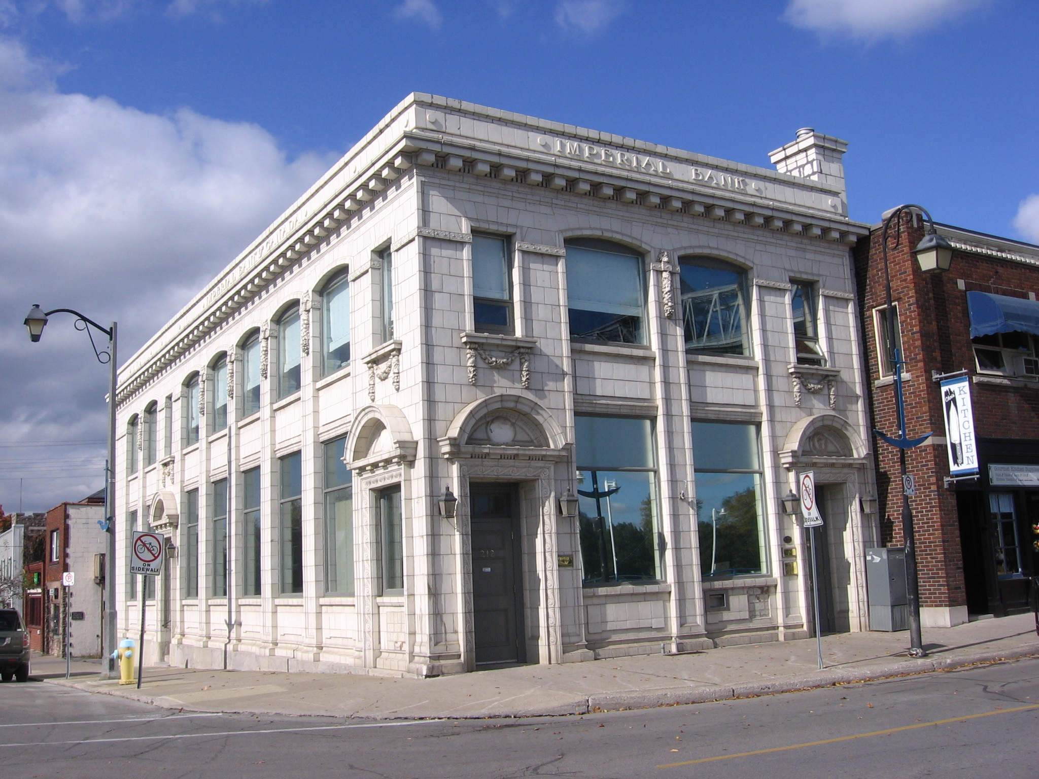 Former bank building on West Street in Port Colborne[1]