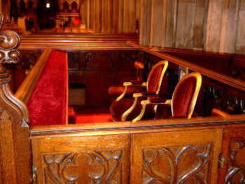 The Viceregal pew in St Patrick's Cathedral, Dublin Presidentspew.jpg