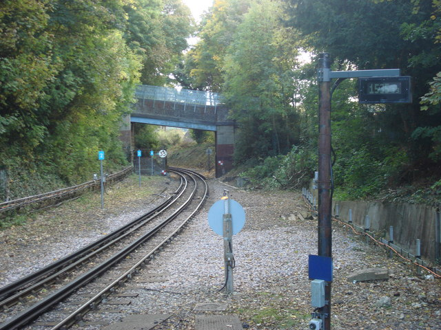 Railway line to the south of Chesham tube station - geograph.org.uk - 1014585