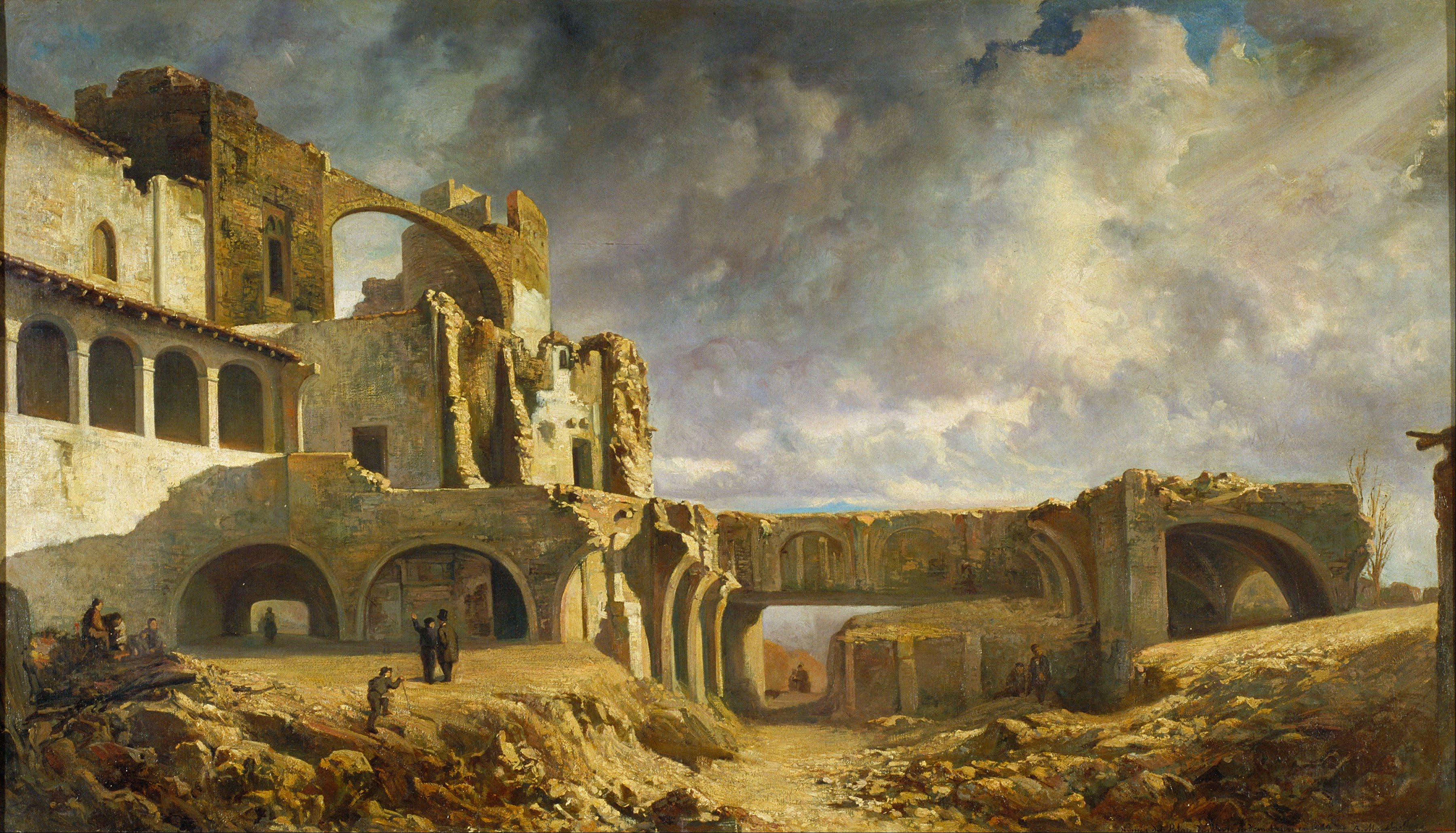Ruins in art: Ramon Martí Alsina, Ruins of the Palace,