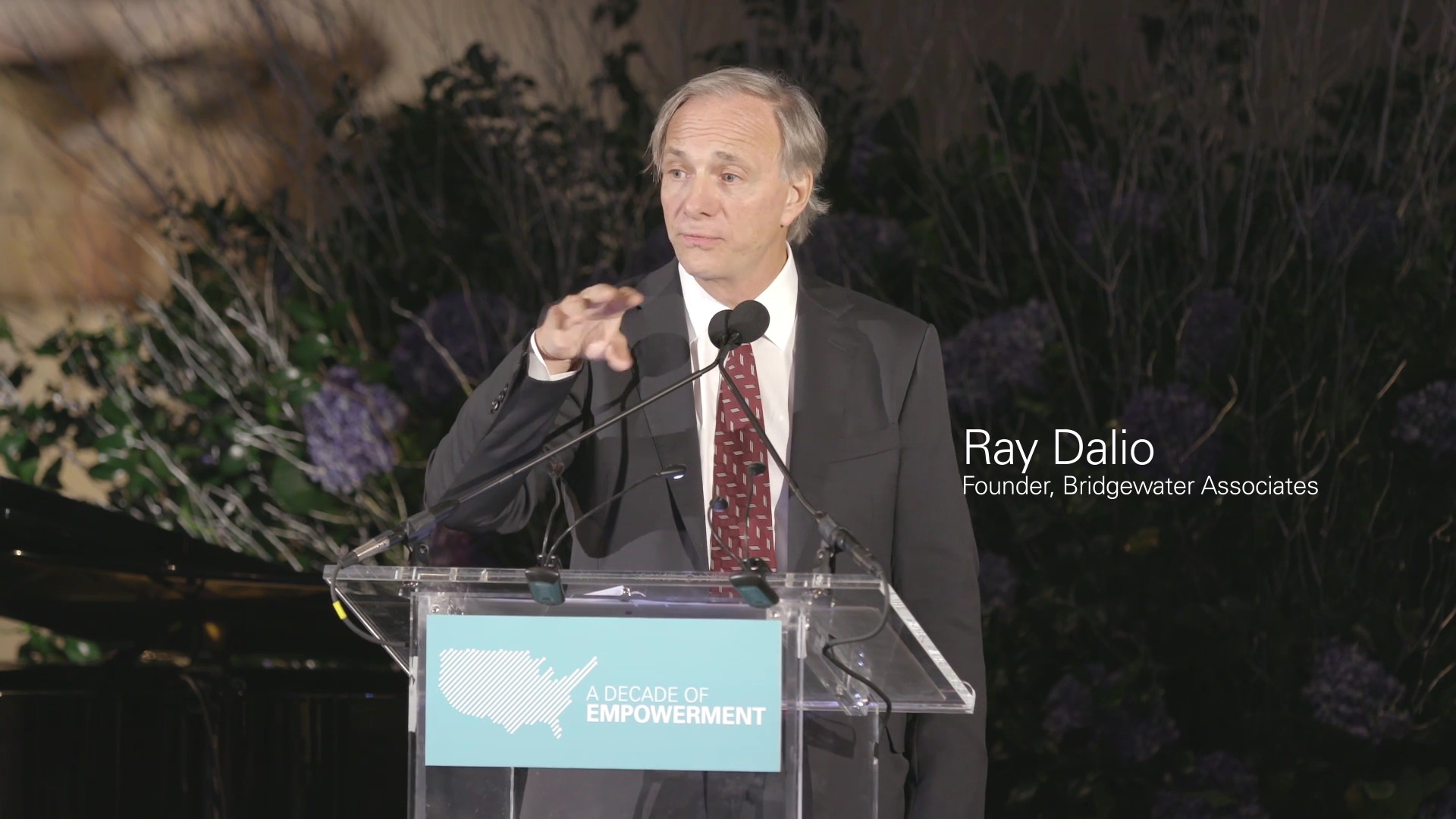 The 69-year old son of father (?) and mother(?) Ray Dalio in 2018 photo. Ray Dalio earned a  million dollar salary - leaving the net worth at 14000 million in 2018