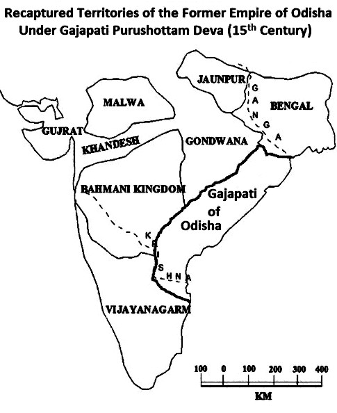 Recovered empire of Purushottam Dea