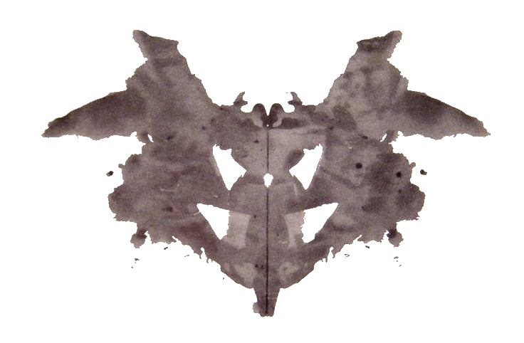 the first of the cards from the Rorschach inkblot test