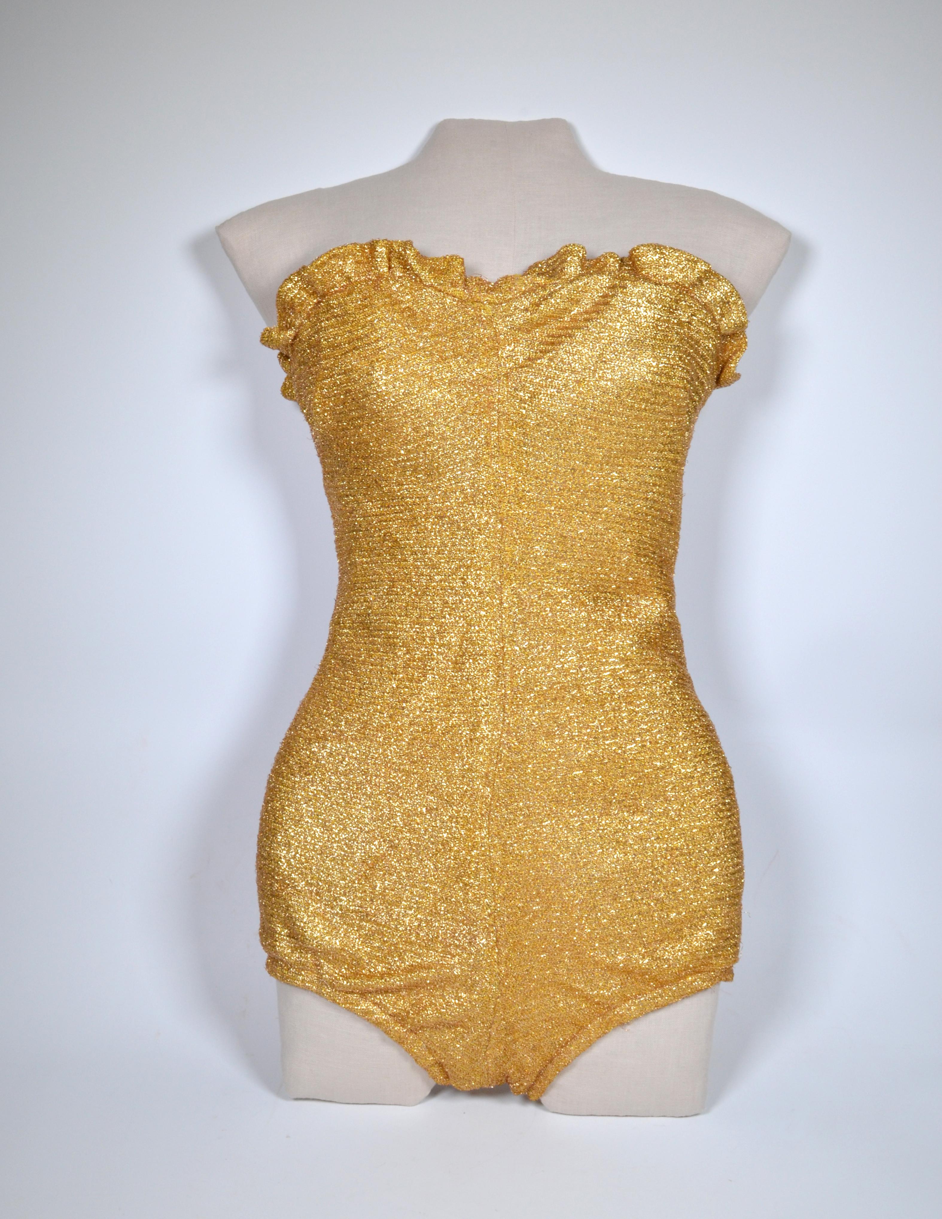 636ad3c8665d1 Hollywood fame[edit]. Glittering Metallic Lamé Swimsuit