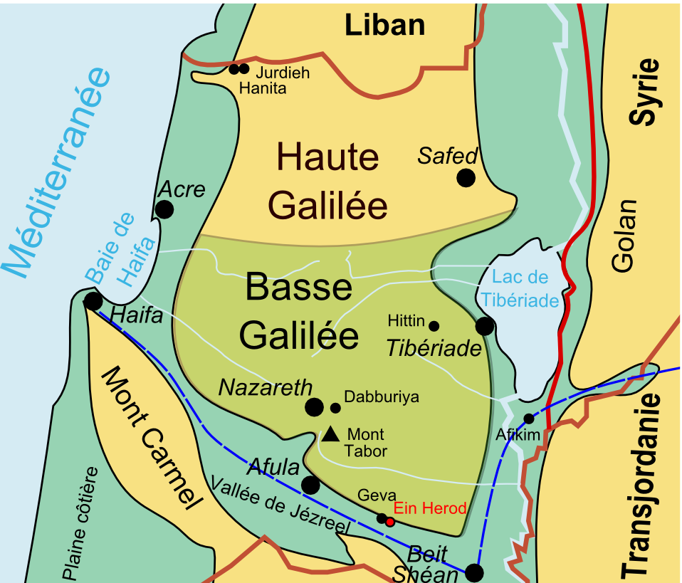 Galilee simple english wikipedia the free encyclopedia for Haute in english