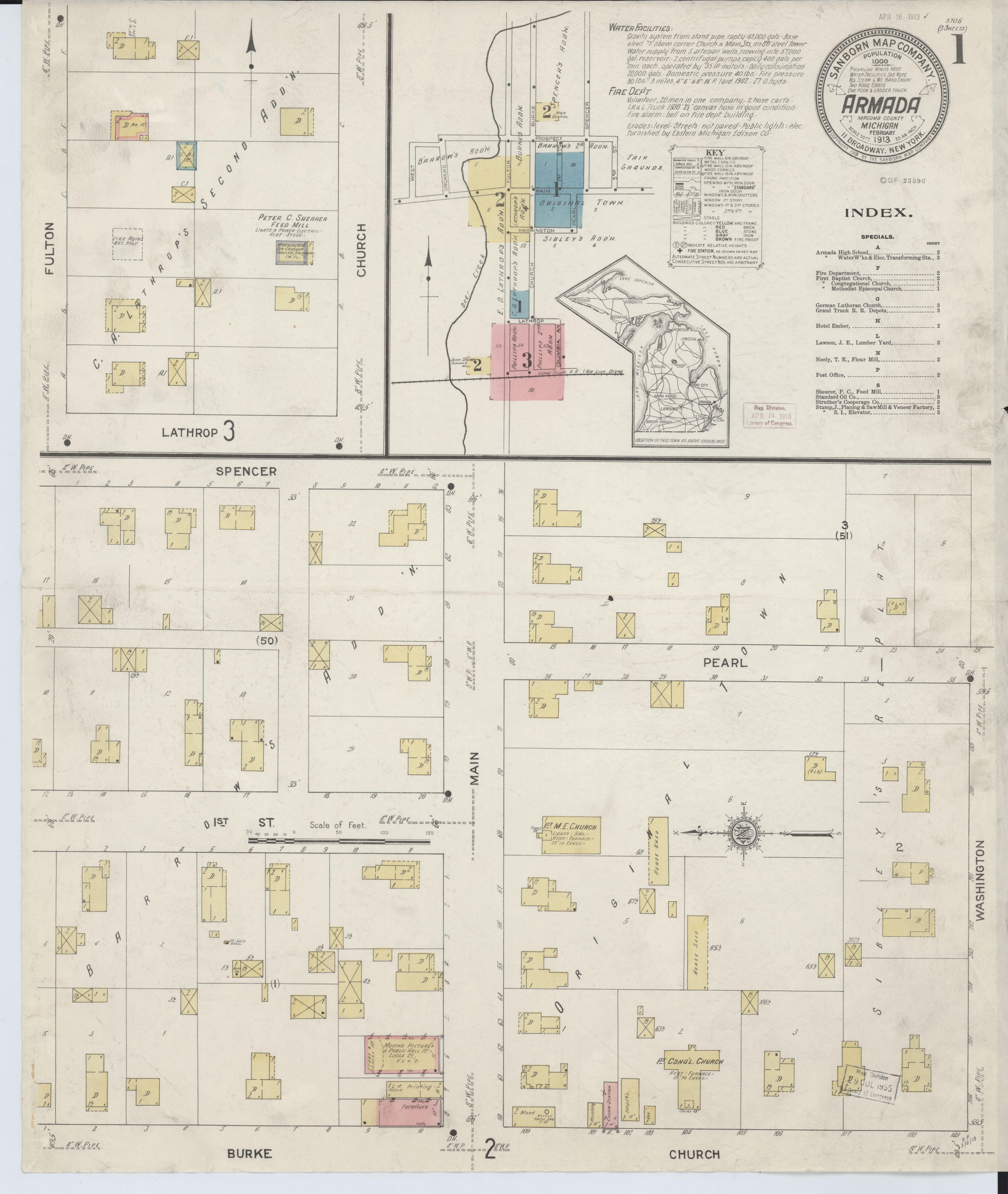 File Sanborn Fire Insurance Map From Armada Macomb County Michigan