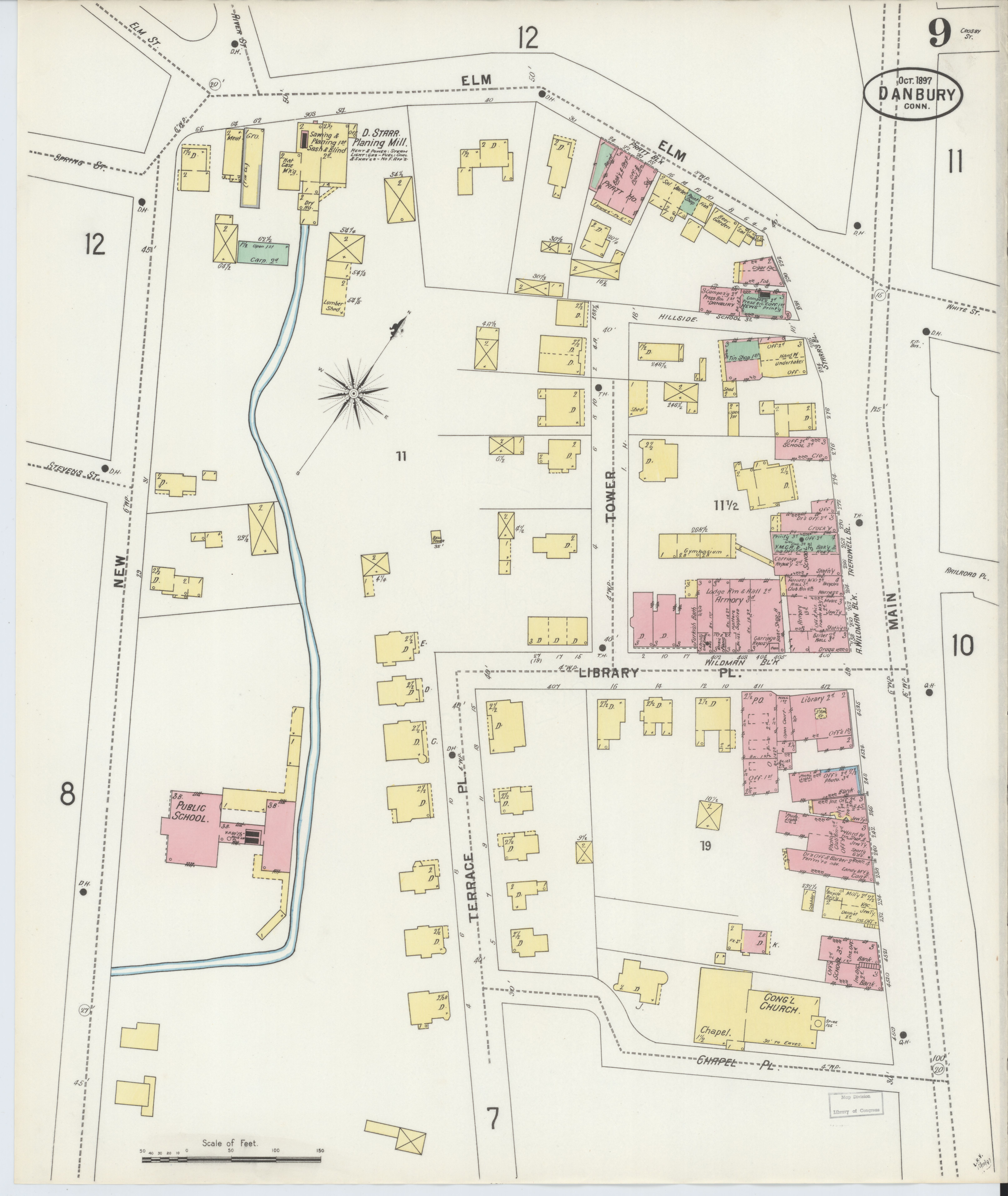 File:Sanborn Fire Insurance Map from Danbury, Fairfield County ... on
